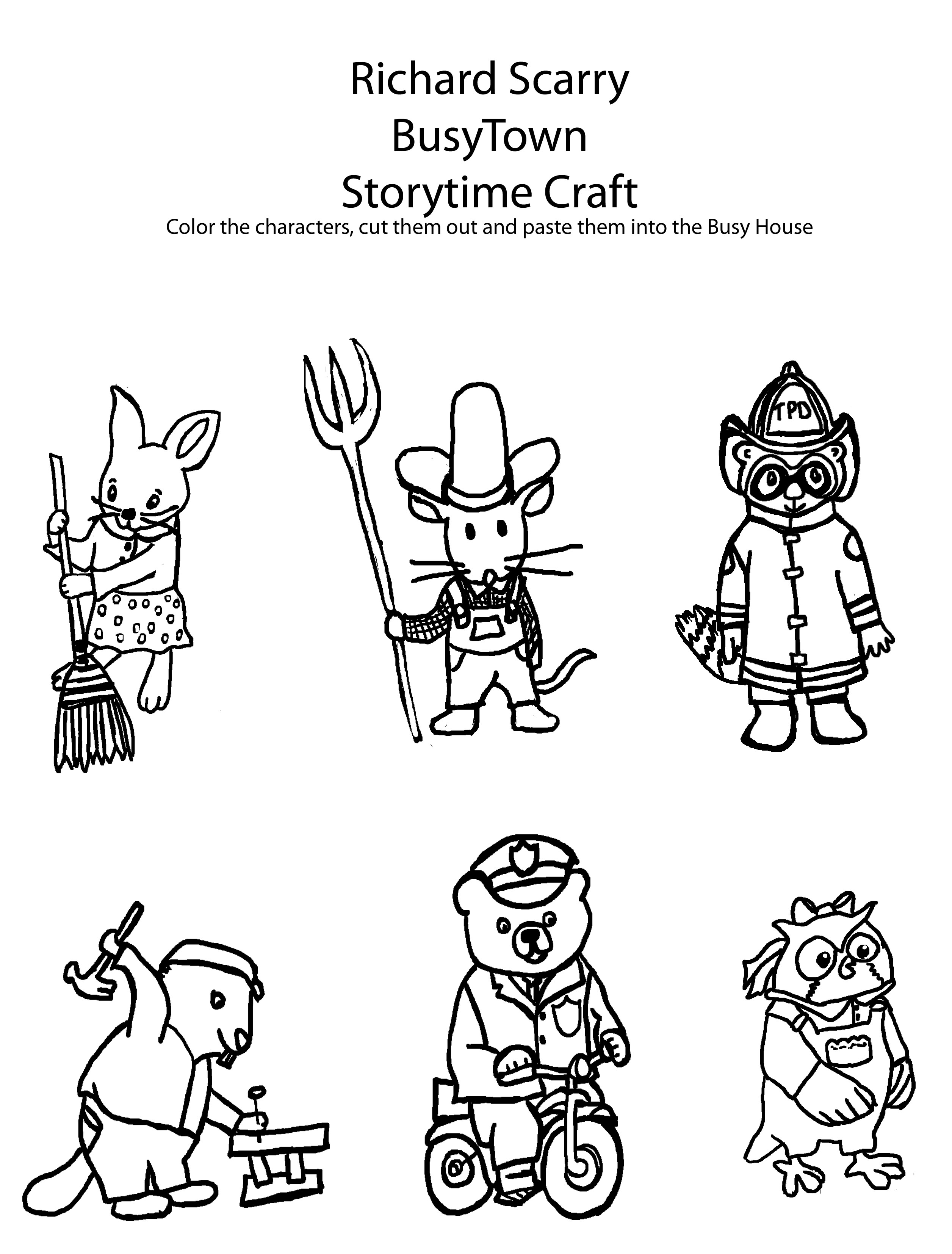 busytown huckle coloring pages - photo#23