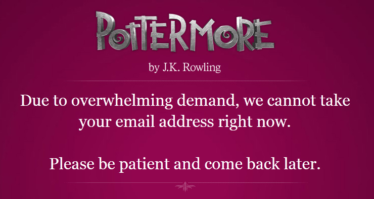 My theory on #Pottermore … MMORPG