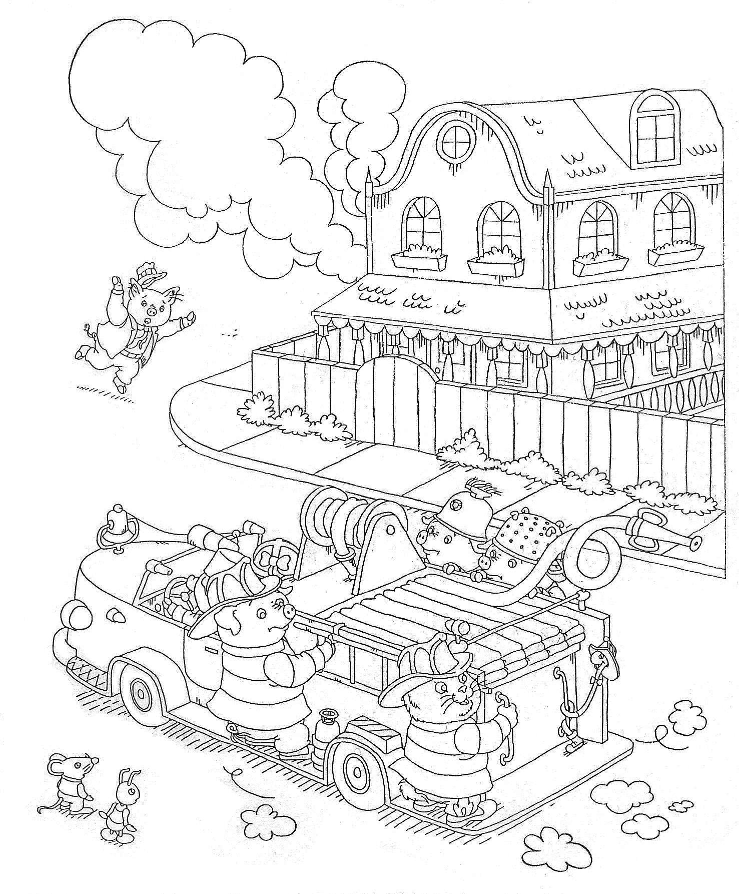 richard scarry preschool coloring pages - photo#6