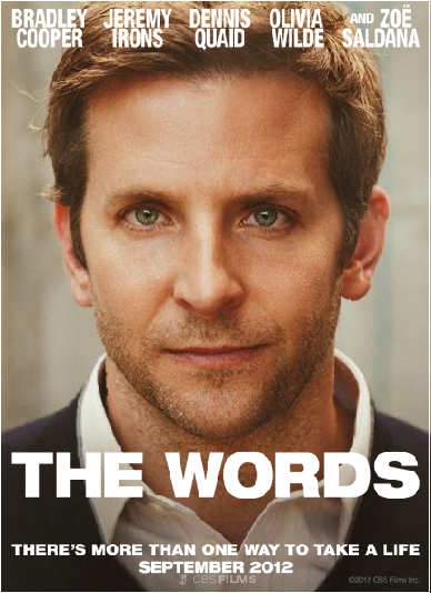 Bradley Cooper, I'm there! New romantic drama 'The Words' coming in September