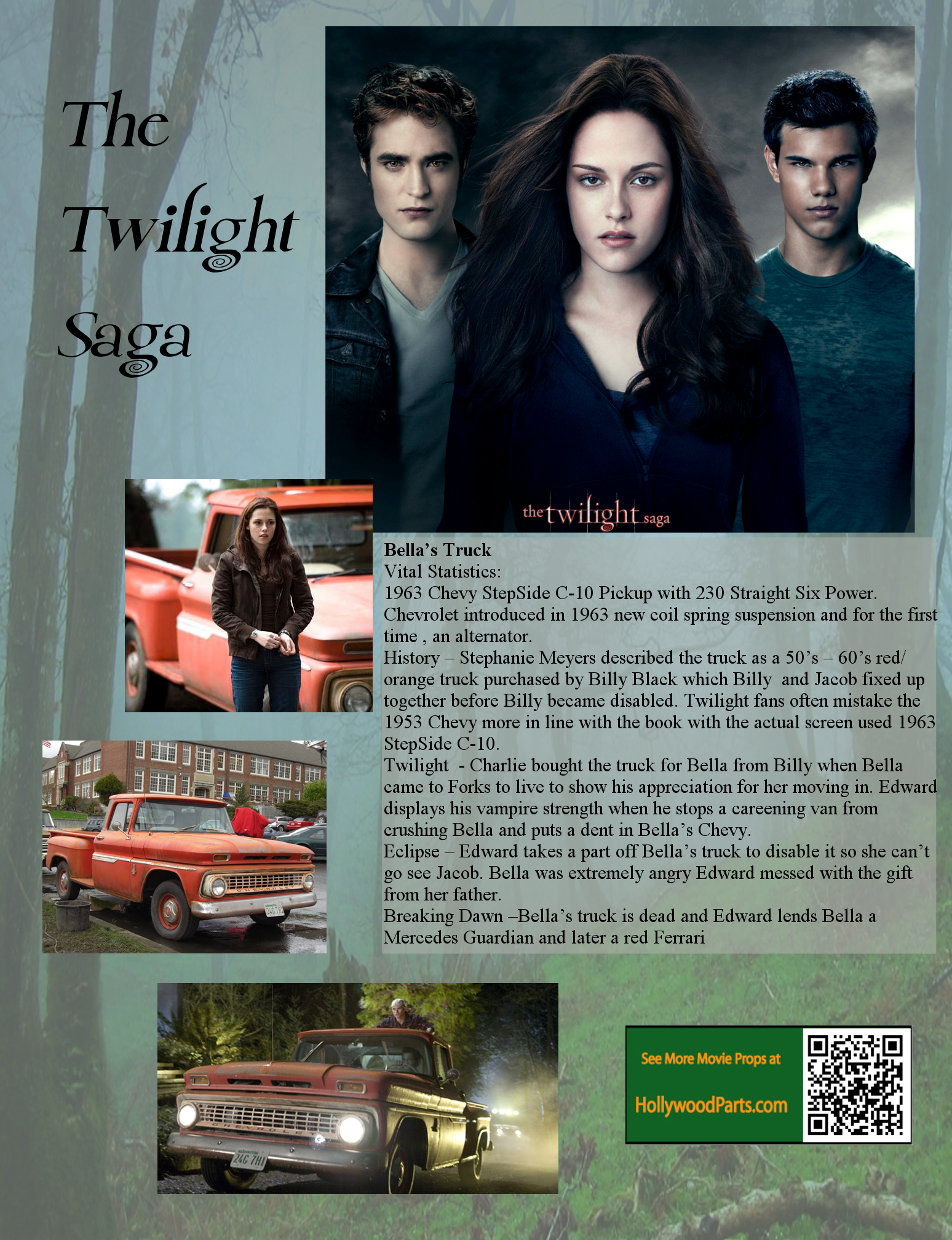 Bella's Truck will be at CityWalk Tonight for Twilight Fans!