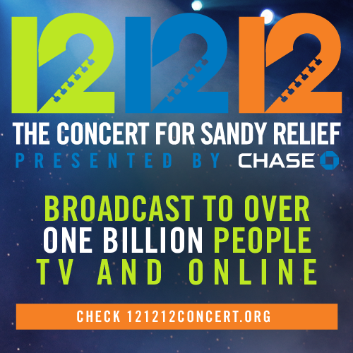 12-12-12 Sandy benefit concert to be seen by 1 million people