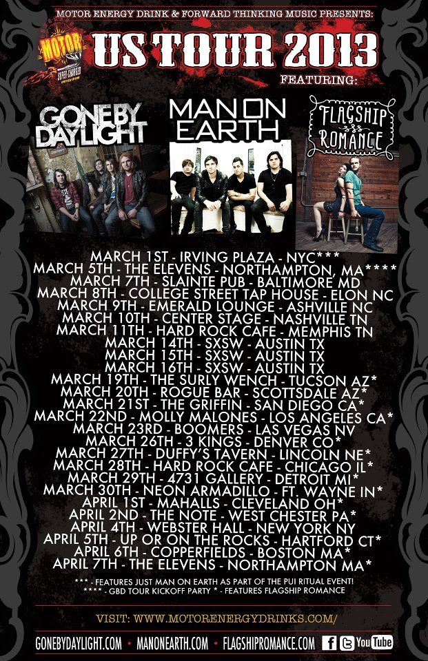 gone by daylight tour poster