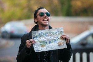 Simon Pegg as Gary King in The World's End.