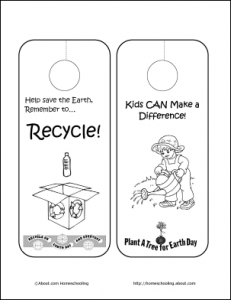 Click to Download the Earth Day Door Hangers