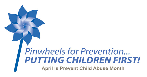 Speaking out against child abuse; Info on the Big Pinwheel Garden
