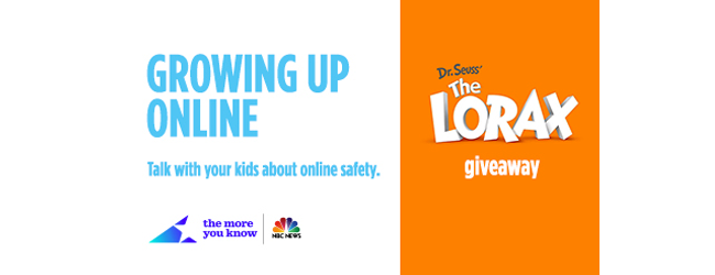 Learn about Growing Up Online and Win the Lorax on Blu-Ray/DVD #giveaway