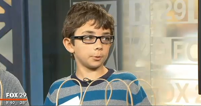 Braeden on Good Day Philadelphia talking about 3B: Brae's Brown Bags