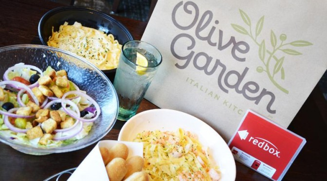 Dinner and a movie at Olive Garden?