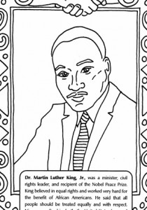 Honoring Martin Luther King Jr And Embracing Our Future Lock Screen Coloring Printable Pages
